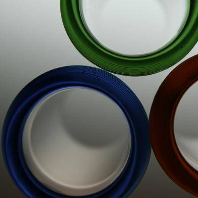 with coloured rim