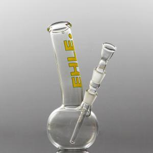 spherical bong, bent, joint 14,5, yellow